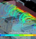 Визуализация организации воздухораспределения в Аэропорту Симферополя