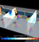 Результаты математического моделирования офисного помещения