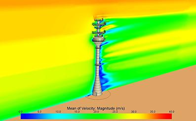 Аэродинамический расчет башни