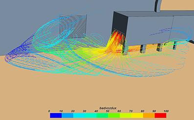 Моделирование обтекания здания аэровокзала