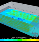 Результаты расчета температурных полей в помещении склада