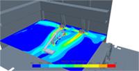 HVAC system simulation in plant