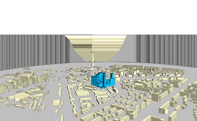 Аэродинамический расчет многофункционального комплекса с жилой застройкой