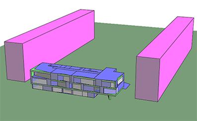 Энергомоделирование здания Торгово-бытового центра