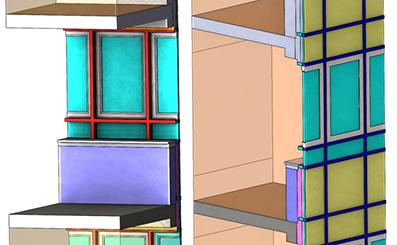 Моделирование теплопередачи через фасад с окном