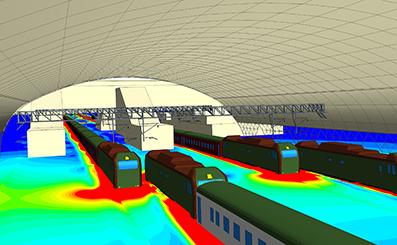 Расчёту нагрузок на контактную сеть и её подвесы от движения поездов