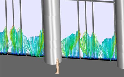 Моделирование микроклимата вестибюля