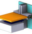 3D геометрия элемента фасадной конструкции