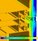 Моделирование распределения температур внутри фасадной конструкции