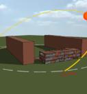 Положение солнца и теней на энергомодели