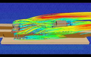 Аэродинамический расчет - обтекание объекта