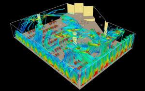 Моделирование микроклимата офисного пространства - скорости