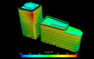 Распределение давления на зданиях