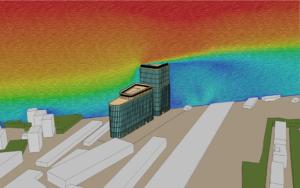Обтекание зданий ветровым потоком