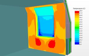Моделирование температур фасадных конструкций