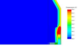 Моделирование температур внутри фасадной конструкции