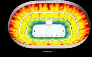 Моделирование арены - температура
