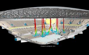 Моделирование параметров микроклимата в ледовой арене