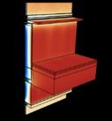 Поле температур на поверхности узла конструкции фасада