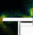 Ниспадающие потоки холодного воздуха от поверхности стеклопакета
