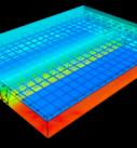 Температурное поле в объеме конструкции перекрытия